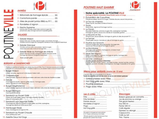 Le Meilleur Restaurant De La Rue Menu